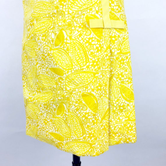 1960's Yellow Butterfly Print Lilly Pulitzer Dres… - image 3