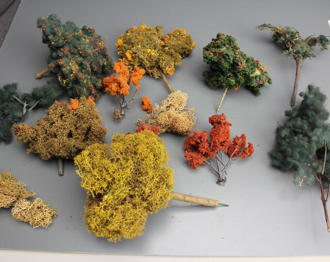 HO Scale Finished Models of Trees and Bushes for your Model Train Hobby