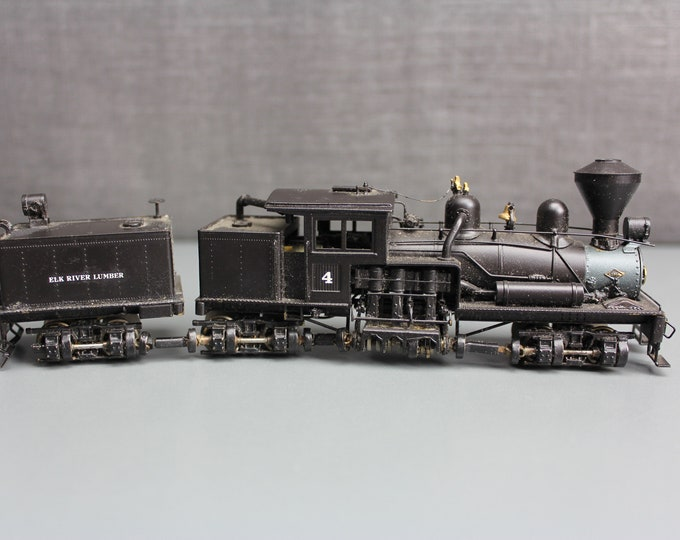 "Vintage HO Painted Brass 3-Truck Shay Class ""B"" Geared Locomotive PFM United"