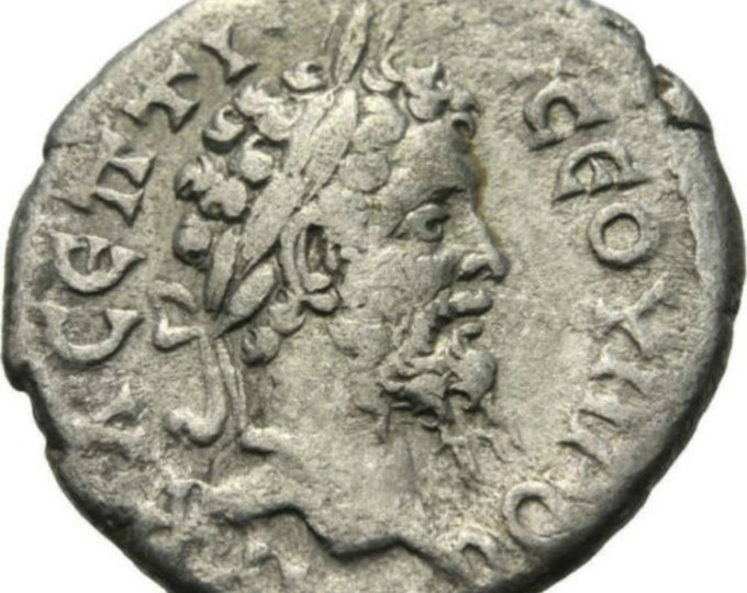 Vintage Ancient Roman Coin Septimus Severus AR Drachm Mount Argaeus 194 AD RARE