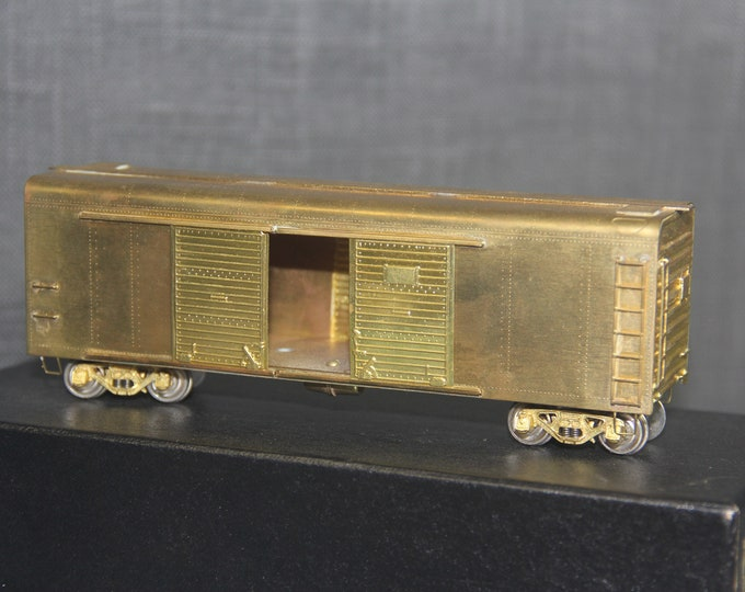 Vintage 40ft Box Car w/4-door X-31b HO Scale Brass Train Hobby