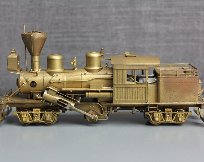 "Vintage Brass PFM HO Scale United Climax Class ""C"" Locomotive Made in Japan"