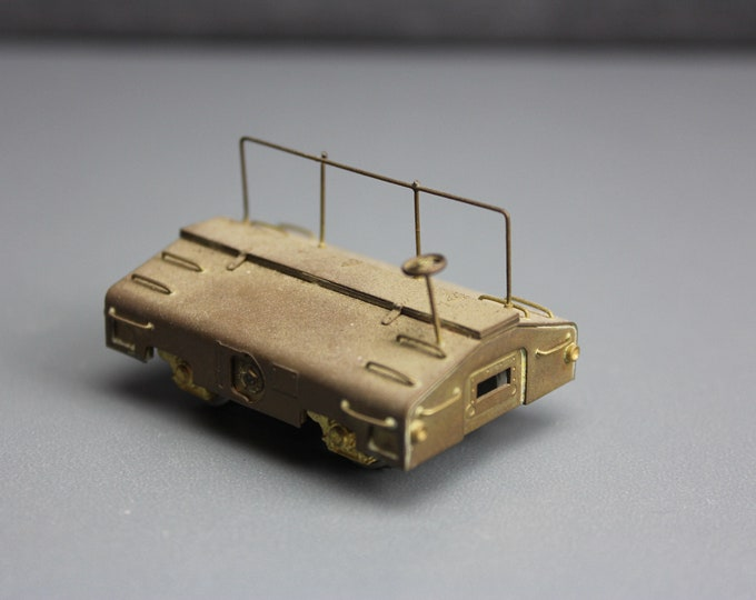 Vintage Brass HO Scale 80,000-lb Seale Test Car for your Train set