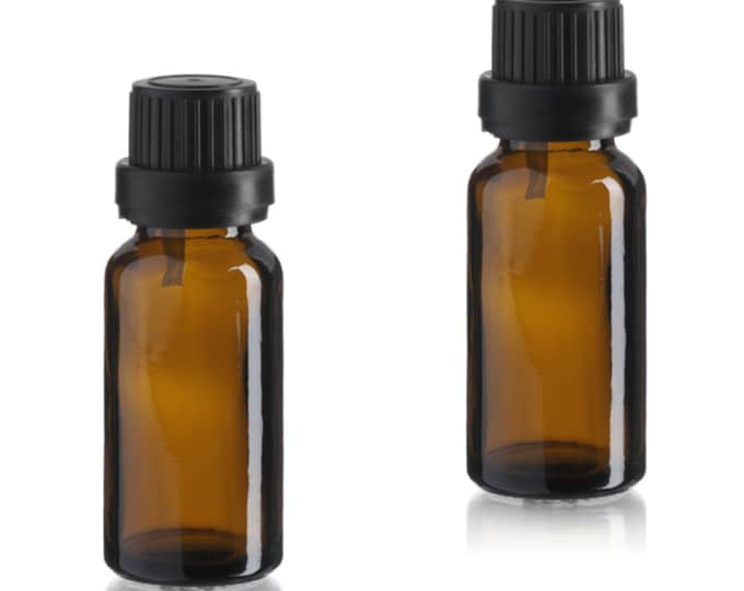 Magnakoys 15 ml Amber Euro Glass Dropper Bottles for Aromatherapy and Essential Oil Applications