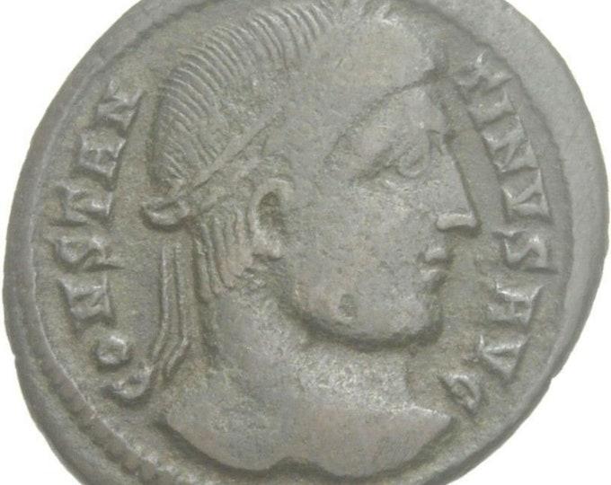Vintage Ancient Roman Coin Constantine I Follis Vota oath Heraclea wreath Augustus