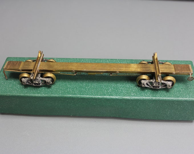 Vintage Brass HO Scale 43 Log Car NW. Short Line Made in JAPAN