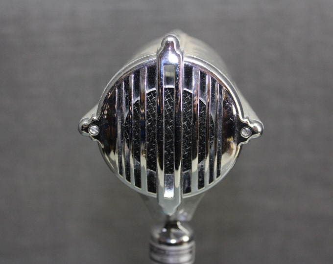 Vintage Dukane Microphone Model 7C40 Desktop Microphone with 7C40 Stand