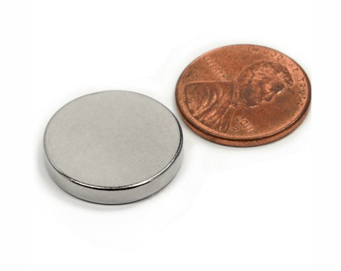 "MagnaKoys® 3 Pcs. Powerful 3/4"" x 1/8"" Strong Disc Round Magnets for Crafts, Hobbies, Geocaching"