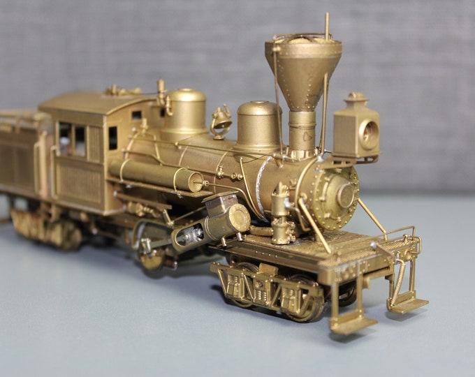 """Vintage Brass PFM HO Scale United Climax Class """"C"""" Locomotive Made in Japan"""