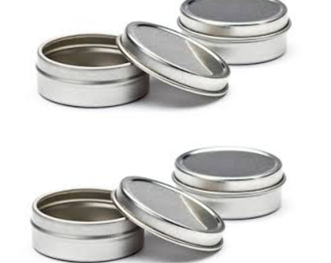 Empty Slip Slide Round Tin Containers for Lip Balm, Crafts, Cosmetic, Candles, Storage Kit by MagnaKoys 1/2 Oz