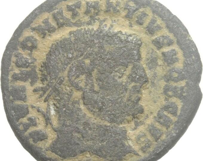 Vintage Ancient Roman Coin of Constantius Chlorus Caesar Follis Cyzicus Genius Patera