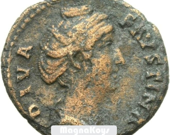 Vintage Ancient Large Roman Bronze Coin of FAUSTINA I 146 AD Antoninus Pius Wife SCARCE
