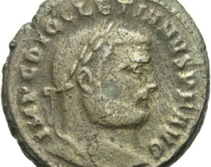 Vintage Ancient Roman Coin Diocletian Follis Genius Antioch Cornucopia RARE