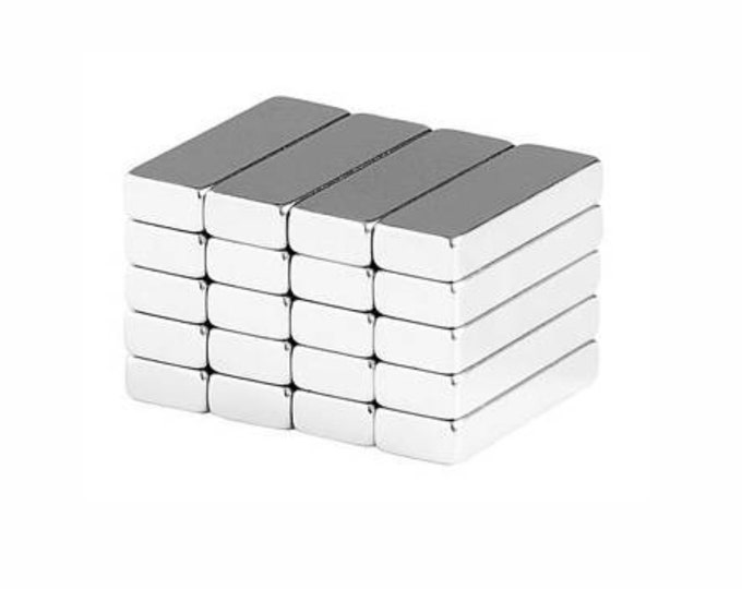 "MagnaKoys® 8 pcs. 3/4"" x 1/4"" x 1/8"" Powerful Neodymium Rare Earth Bar Magnets for Crafts Geocaching, Gear"