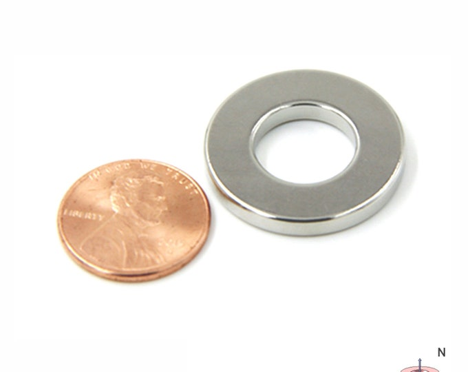 "MagnaKoys® 1"" x 1/2"" x 1/8"" Neodymium Rare Earth Ring Magnets for Crafts, Geocaching, survival Gear, Screw"