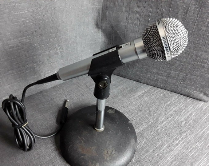 Vintage Realistic Highball-2 Dynamic Microphone CAT. NO. 33-985 ref-2
