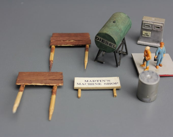HO Scale Finished Models of Diesel Tank and Others for your Model Train Hobby