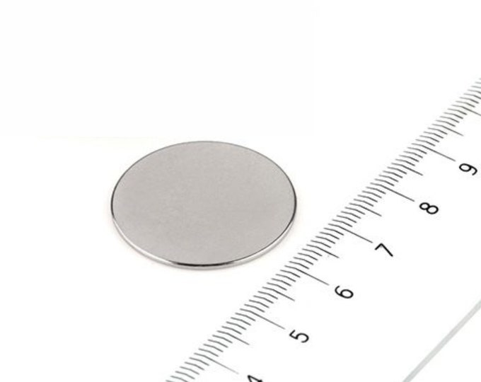 """MagnaKoys® 5 Pcs. Powerful 1"""" x 1/32"""" Strong Disc Round Magnets for Crafts, Hobbies, Geocaching"""