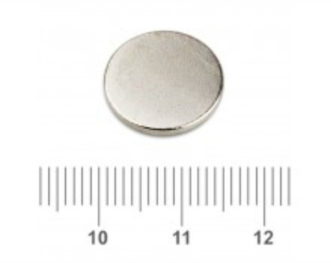 "MagnaKoys® 19 Pcs. Powerful 1/2"" x 1/16"" Strong Disc Round Magnets for Crafts, Hobbies, Geocaching"
