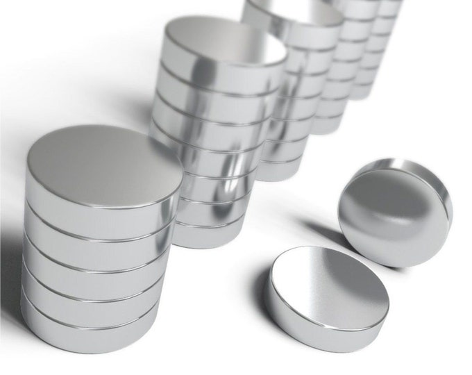"""MagnaKoys® 6mm x 1.5mm (1/4"""" x 1/16"""") Powerful Neodymium Rare Earth Magnets in Grade 35, 42, & 48 for Crafts, Geocaching, bottlecaps"""