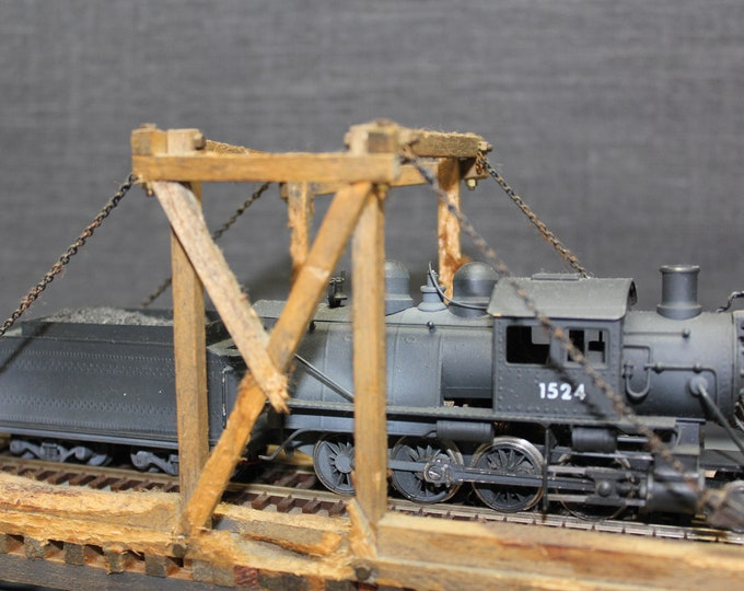 Vintage Painted Brass Mother Hubbard (Camel Back) 2-8-0 Locomotive & Tender HO Scale