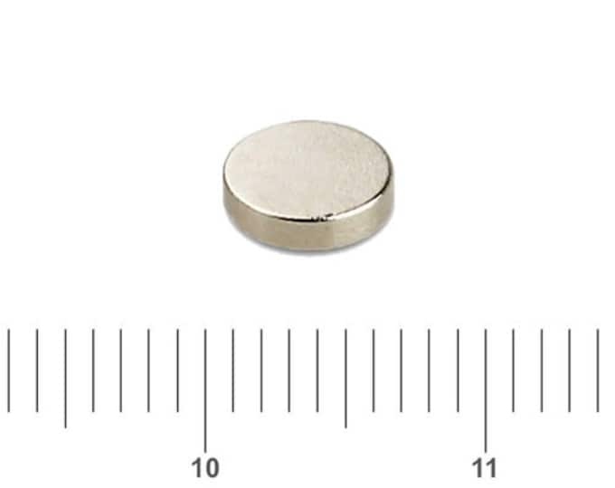 "MagnaKoys®  57 pcs. 6mm x 1mm (1/4"" x 3/64"") Tiny Neodymium Rare Earth Disc Magnets for Crafts, Miniatures"