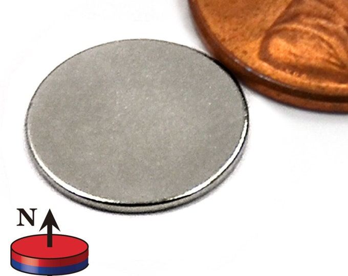 "MagnaKoys® 27 Pcs. Powerful 1/2"" x 1/32"" Strong Disc Round Magnets for Crafts, Hobbies, Geocaching"