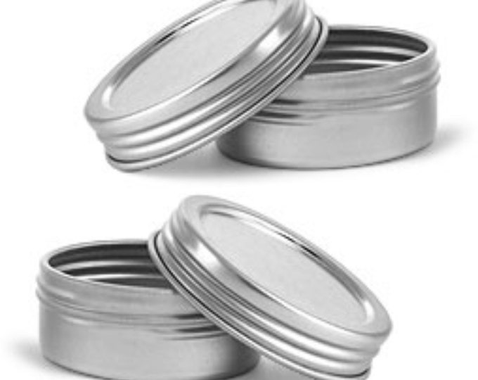 MagnaKoys Silver Metal Tins w/Top Lid Continuous Thread Cap craft Organizer Container(small) 1/2 oz Tins