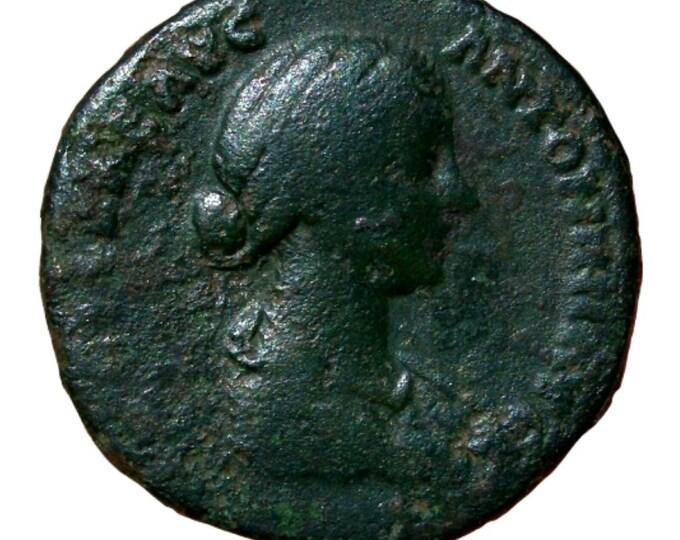 Vintage Ancient Lucilla Roman Empress wife of Lucius Verus Sestertius Coin VENUS 161AD