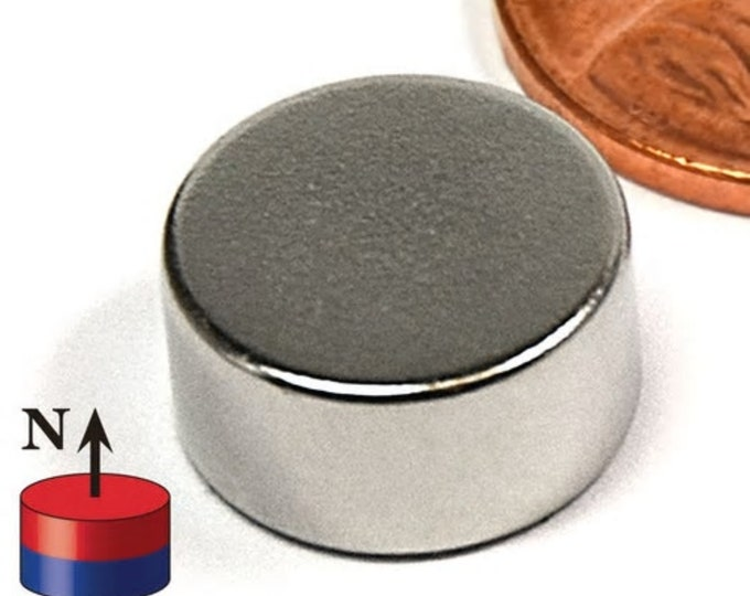 "MagnaKoys®  4 pcs. 12.7mm x 6mm (1/2"" x 1/4"") Powerful Neodymium Rare Earth Disc Magnets for Crafts, Geocaching, survival Gear"