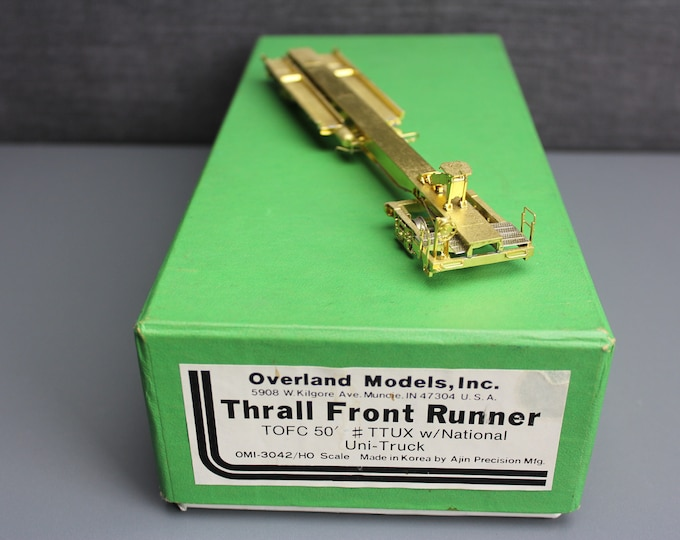 Vintage Brass HO Scale Thrall Front Runner Excellent Detail