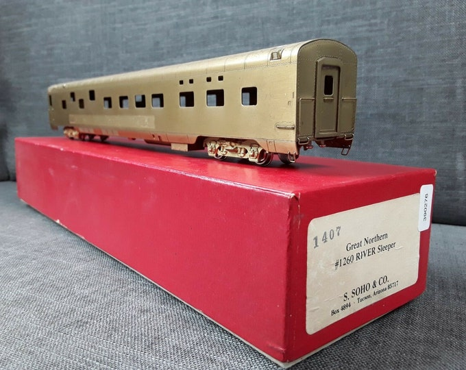 Vintage SOHO & Co HO Scale BRASS Great Northern #1260 River Sleeper