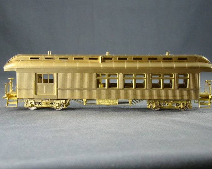 "Vintage Brass HO Scale Beaver Creek Oldtime Passenger Set Baggage Combine Coach ""Collectors Edition"" Samhongsa (3 Cars)"