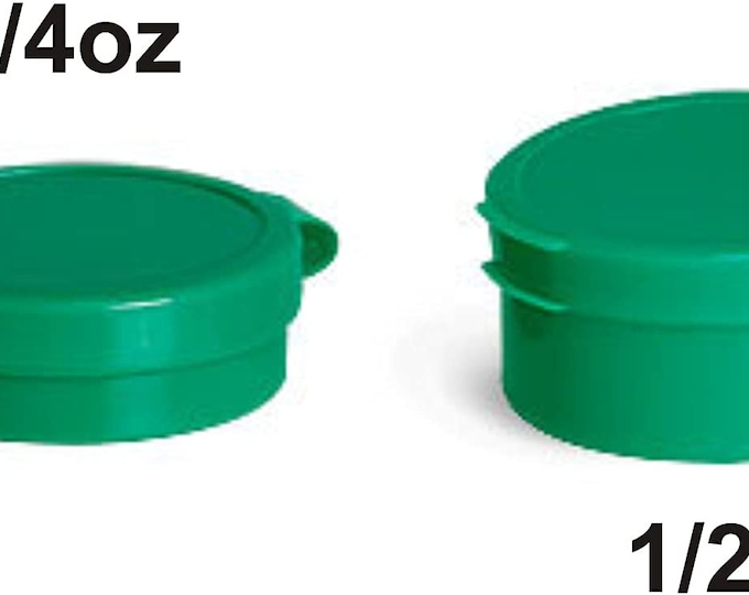 Magnakoys 1/4oz or 1/2oz Plastic Vial Containers with Hinged Top Lids for Crafts Pills Geocaching 10 pcs