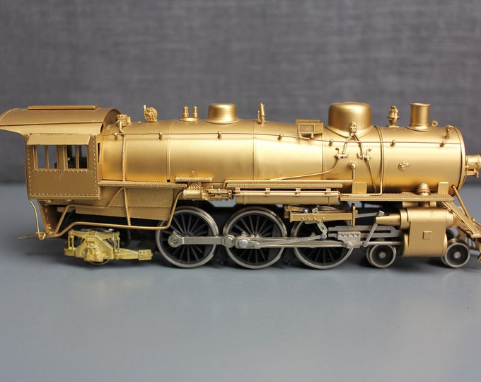 Vintage HO Scale Brass AT & SF 4-6-2 Class 3160 Locomotive and Tender by A.H.M.