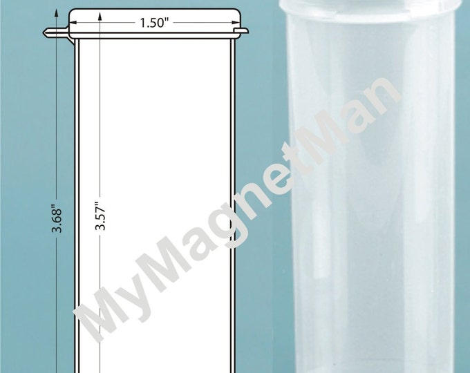 "MagnaKoys® 3.70"" Clear 2.5oz Polypro Plastic Craft Storage Vials with Attached Hinged Lid Containers"