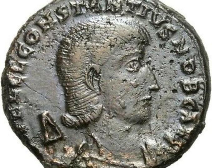 Vintage Ancient Roman Coin Constantius Gallus Caes AE Centenionalis Soldier spearing