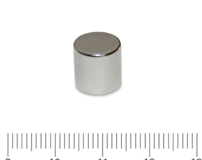 "MagnaKoys®  4 pcs. 10mm x 10mm (3/8"" x 3/8"") Powerful Neodymium Rare Earth Cylinder Magnets for Crafts, Geocaching, survival Gear"