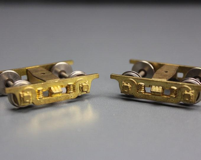 Vintage Brass HO Scale Overland 4-Wheel Trucks (1 pair)
