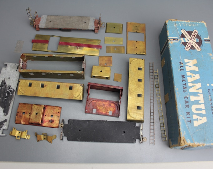 Vintage Brass & Metal HO Scale Mantua Parts for a Caboose