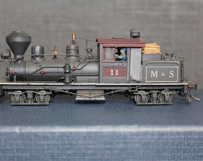 Vintage United HO scale brass Hillcrest RR 25 TON Shay Locomotive Custom Painted Japan Train Hobby