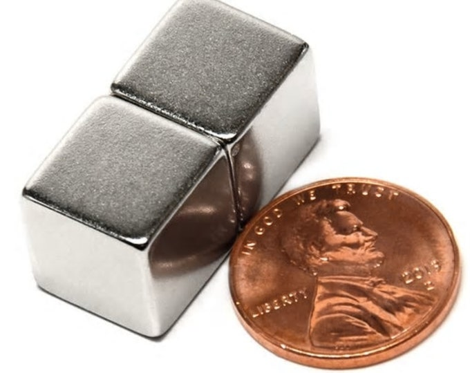 MagnaKoys®  1/2 inch Cube Block Neodymium Rare Earth Magnets for Crafts, Geocaching, survival gear
