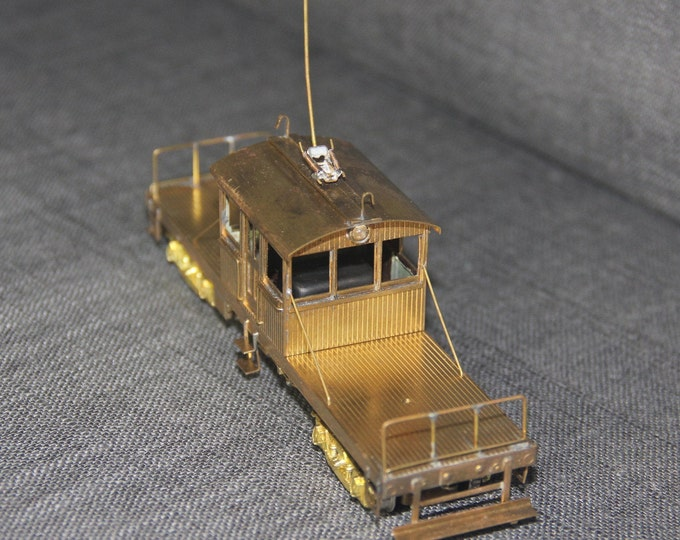 Vintage Suydam HO scale brass Flat Bed Work Motor Car #000 Japan Train Hobby
