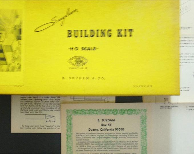 Vintage HO Scale Suydam Metal Building Kit no. 17 Black Mine Hoist House for Model Train hobby