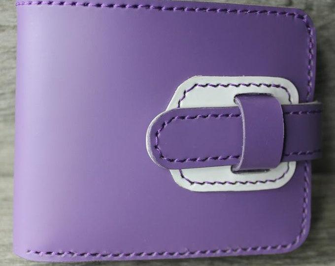 "Lisbon Leather - ""The Purple Carte""  Handmade Wallet"