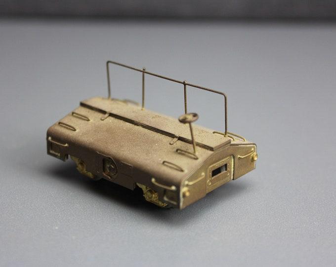 Vintage Brass HO Scale 80,000-lb Seale Test Car for your Train set