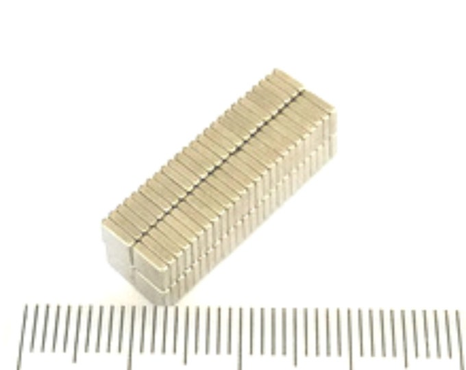 MagnaKoys®  27 pcs. 4 x 4 x 1mm (5/32 x 5/32 x 3/64 in) Neodymium Rare Earth Block Magnets for Crafts, Geocaching, dollhouses, & Miniature