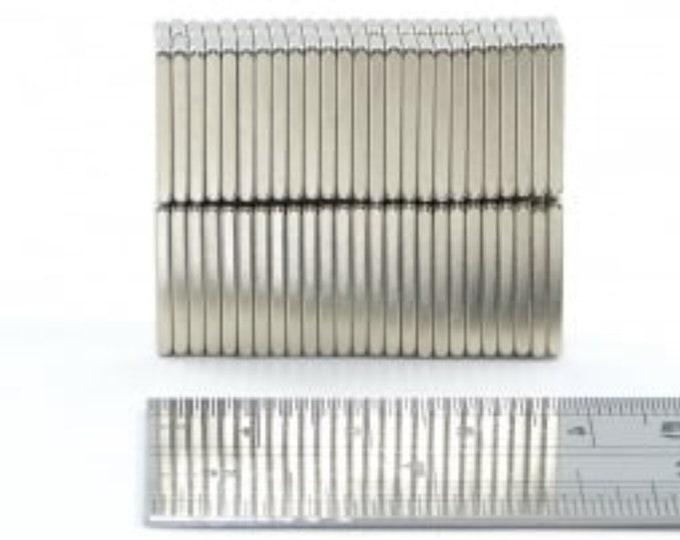 "MagnaKoys 12 pcs. 5/8"" x 1/4"" x 1/16"" Powerful Neodymium Rare Earth Bar Magnets for Crafts Geocaching, Gear"