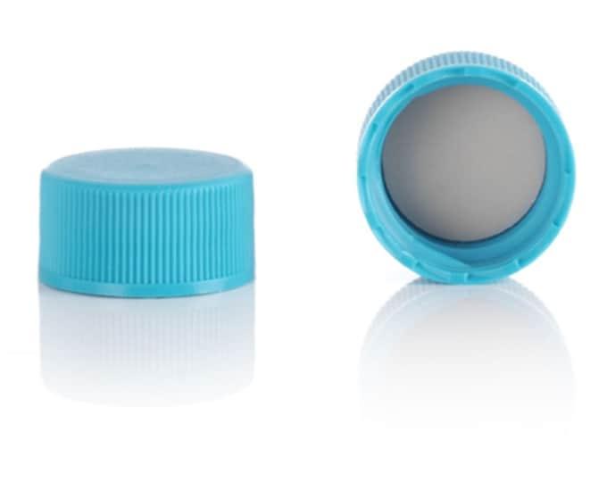 Magnakoys® Black 18-400 Teflon (PTFE) Lined Continuous Thread Closure Twist Screw Caps for Vials