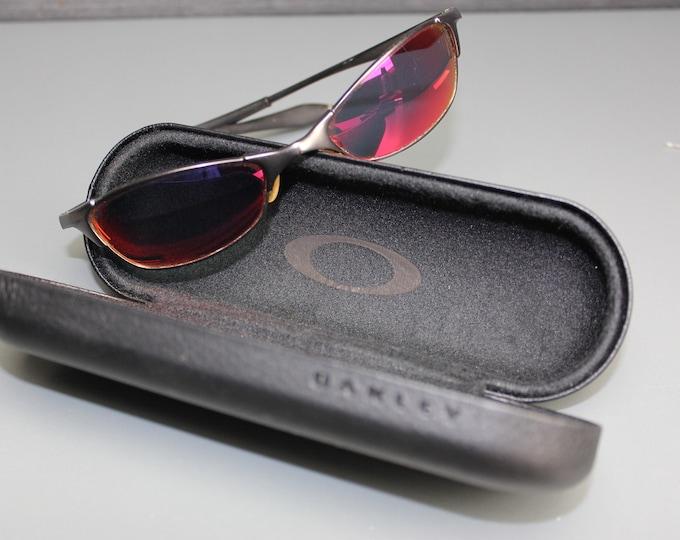 Vintage Ray-Ban Black Frame Red Lens Sunglasses